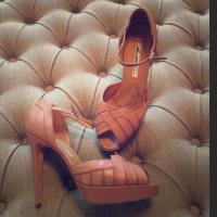 Brian Atwood Mauve art-deco sandals Angle1