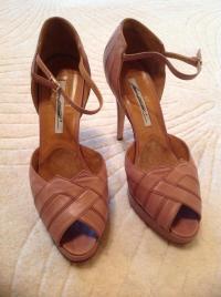 Brian Atwood Mauve art-deco sandals Angle2