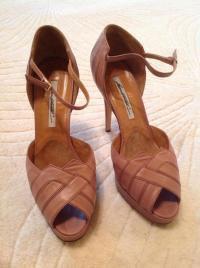 Brian Atwood Mauve art-deco sandals Angle3