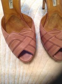 Brian Atwood Mauve art-deco sandals Angle4