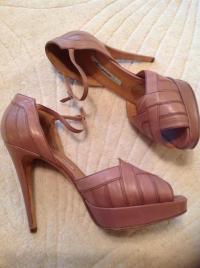 Brian Atwood Mauve art-deco sandals Angle6