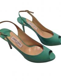 Jimmy Choo mint green slingbacks