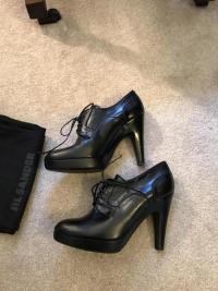 Black Jill Sander Booties. Sz: 10 Angle4