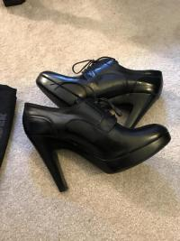 Black Jill Sander Booties. Sz: 10 Angle2