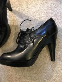 Black Jill Sander Booties. Sz: 10 Angle6