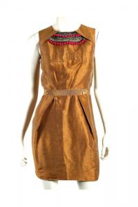 Mathhew Willianson Copper Applique Dress Matalic