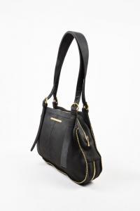 Stella McCartney  Black Gold Tone  Shoulder Bag