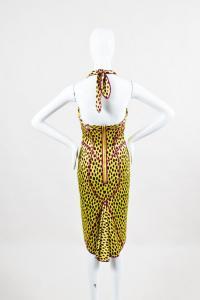 Leopard Print Paneled Tie Halter Dress-Zac Posen Angle3