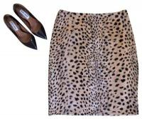 Furry Cheetah Pencil Skirt