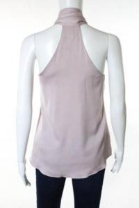 Milly New Purple Tie Neck  Sleeveless Blouse Top  Angle3