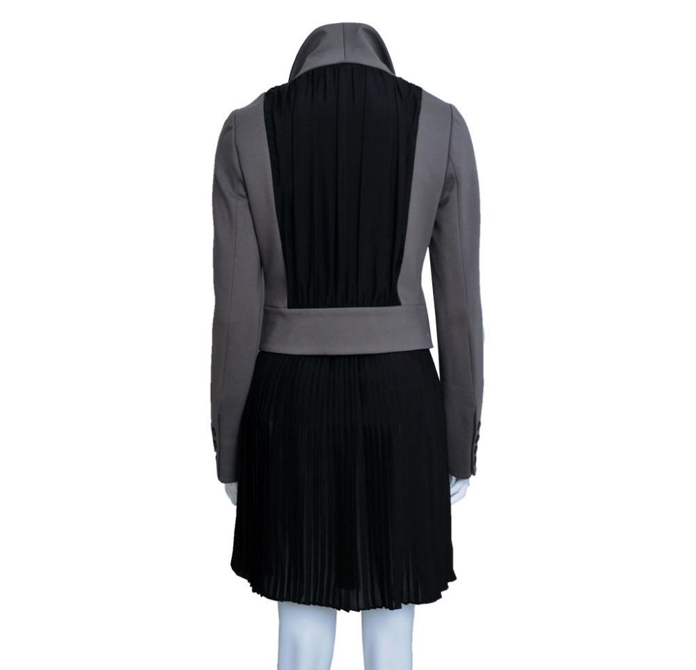 Mackage jacket w/ leather and silk details