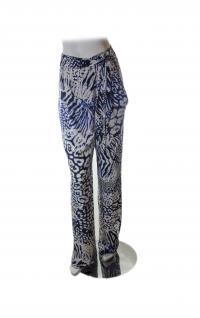 Rebecca Minkoff blue and wht print pants