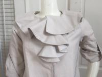 Marni New Ruffled Collar 3/4 Length Lined Jacket Angle3