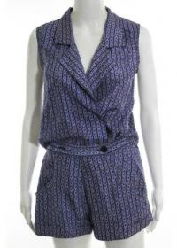DEREK LAM-V Neck Mini Shorts Romper Sz 10