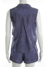 DEREK LAM-V Neck Mini Shorts Romper Sz 10 Angle2