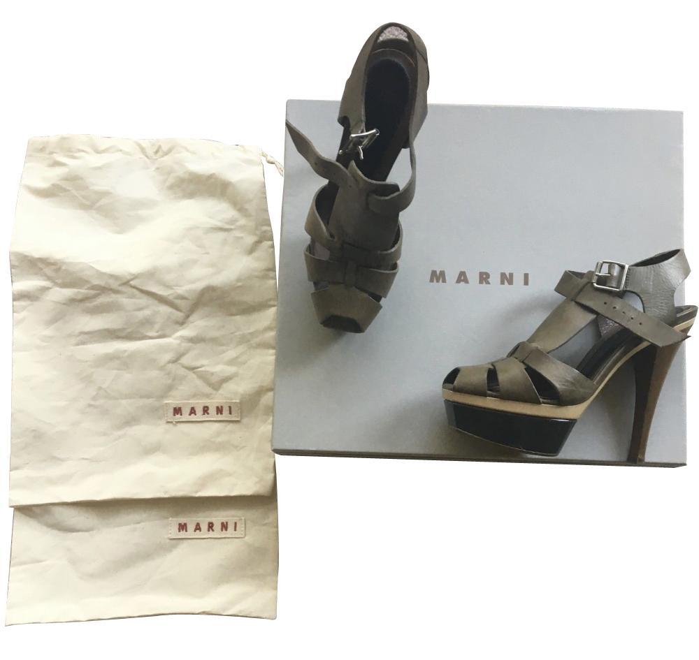 PLATFORM SANDALS W/ SHOE BAGS-AUTH. MARNI