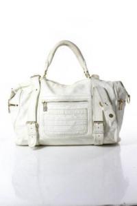 White Satchel Leather Handbag-Rebecca MinkoffRebe