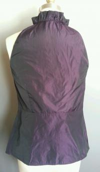 VINCE Metallic Purple Blouse Angle5