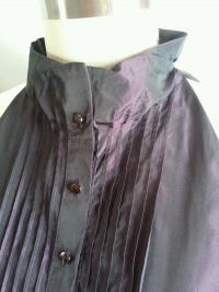 VINCE Metallic Purple Blouse Angle2