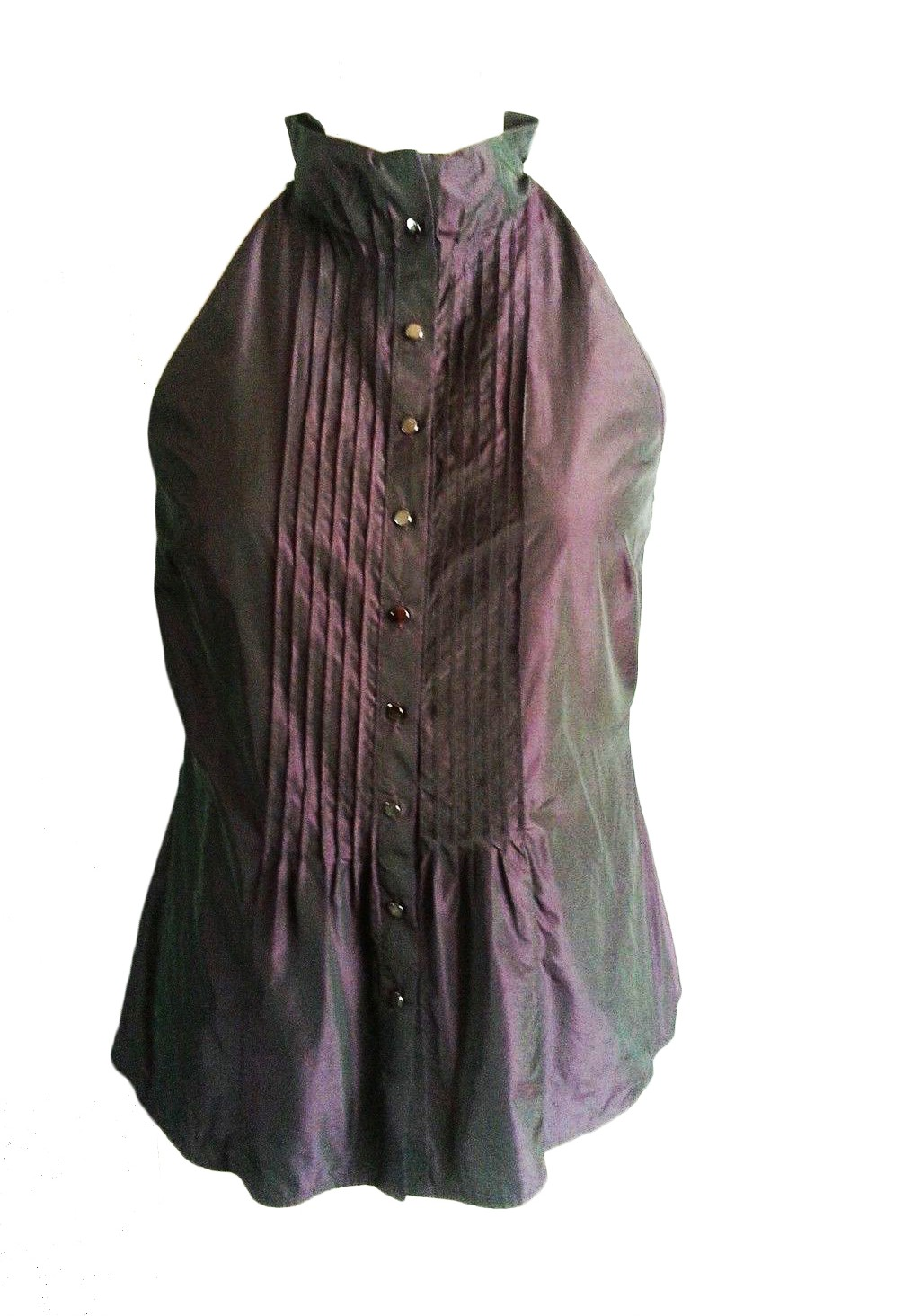 VINCE Metallic Purple Blouse