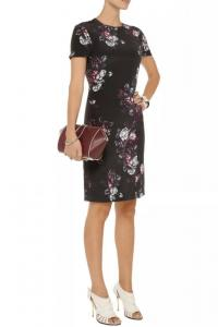McQ Sliding Seam Floral-Print Dress