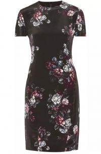 McQ Sliding Seam Floral-Print Dress Angle3