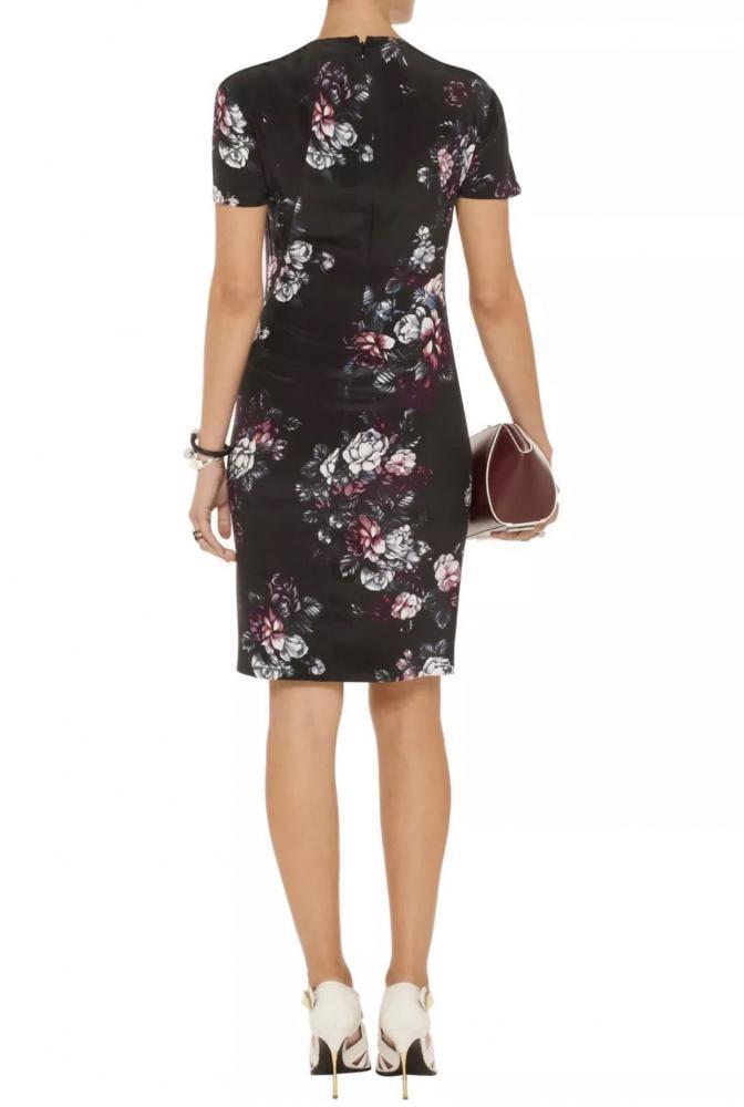 McQ Sliding Seam Floral-Print Dress