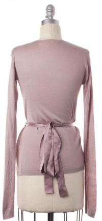 Embellished Wrap Sweater  Size XS- LANVIN Blush Angle3