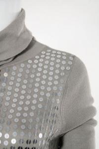 Long sleeve sequin sweater dress Angle2