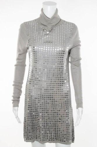 Long sleeve sequin sweater dress