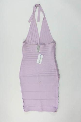 Ribbed Stretch Halter Midi Knit Dress -Herve Leger