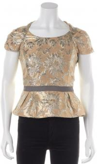 Floral Gold Silver Blouse- MARC BY MARC JACOBS  Angle2