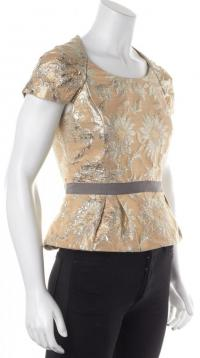 Floral Gold Silver Blouse- MARC BY MARC JACOBS  Angle3
