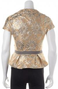 Floral Gold Silver Blouse- MARC BY MARC JACOBS  Angle4