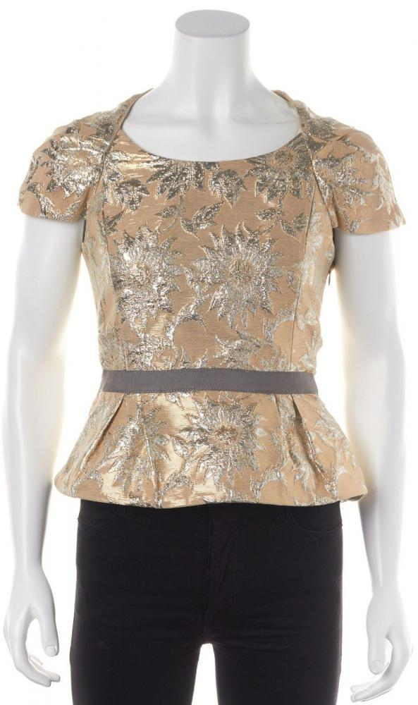 Floral Gold Silver Blouse- MARC BY MARC JACOBS