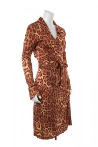 Silk Casual Wrap Dress-DIANE VON FURSTENBERG