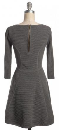 Fit & Flare Ribbed Knit Mini Dress Sz:M-MILLY Angle3