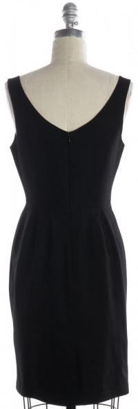 V Neck Pleated Sheath Dress-REBECCA MINKOFF Angle3