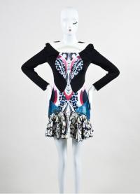 Peter Pilotto Mixed  Print Open Back Dress Angle2