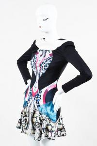 Peter Pilotto Mixed  Print Open Back Dress