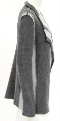 James Perse Gray Wool wrap Cardigan Angle3