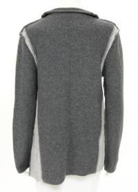 James Perse Gray Wool wrap Cardigan Angle5