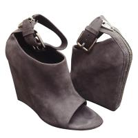 ALEXANDER WANG Periwinkle Genuine Suede Wedges