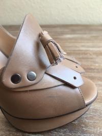 Nicholas will Kirkwood Nude Loafer Heel Angle4