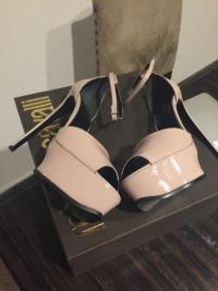 Roberto Cavalli sandals nude heels as seen on Kim Angle3