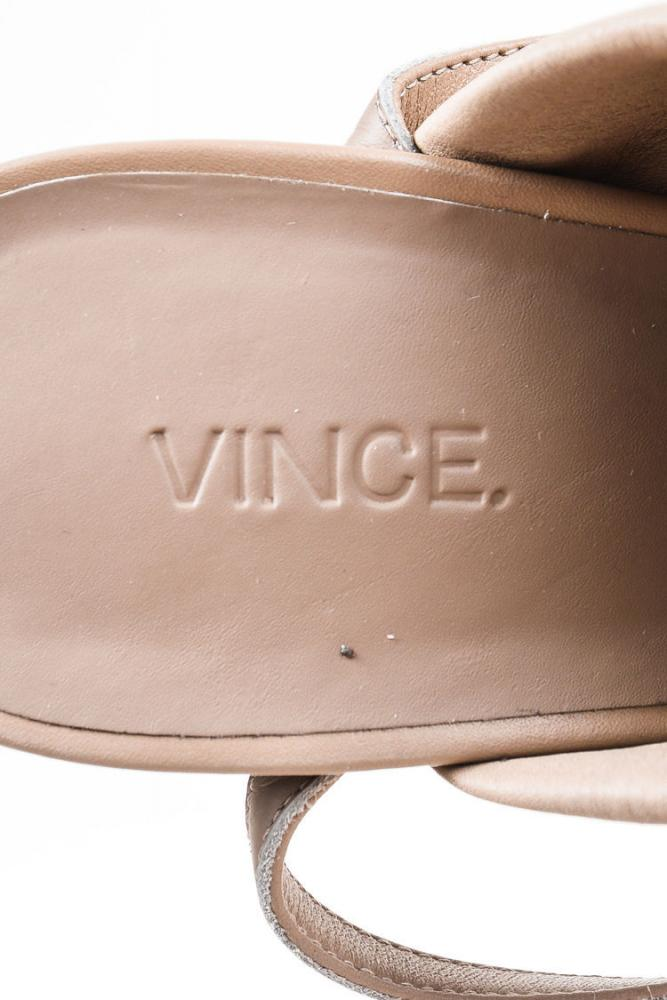 Vince Ankle Strap Taupe Booties