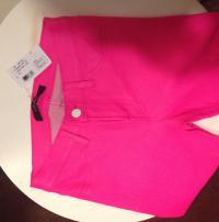 Pink Leather skinny jeans Angle3