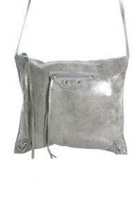 Balenciaga Iridescent Leather Moto City Handbag