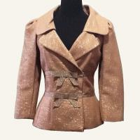 Tracy Reese metallic bow jacket