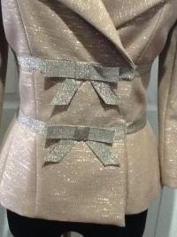 Tracy Reese metallic bow jacket Angle2